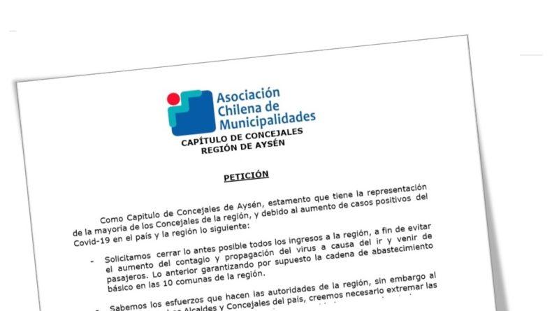 Concejales de las 10 comunas exigen a Intendenta cerrar los ingresos de la Región de Aysén