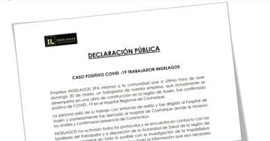 Empresa Ingelagos confirma nuevo contagio de COVID-19 en la Región de Aysén