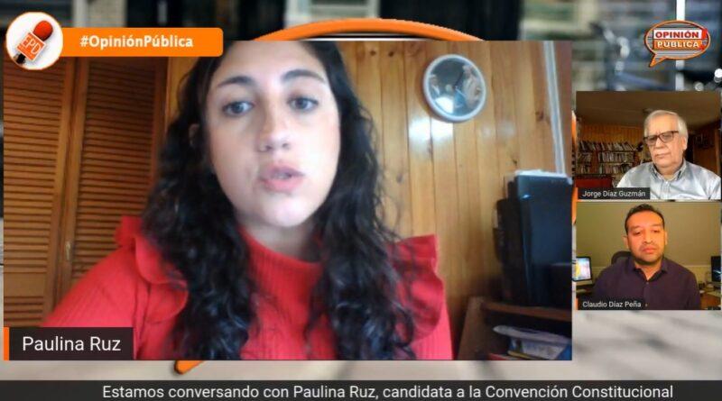 """Candidata Paulina Ruz: """"Apunto a derechos sociales reconocidos en acceso y en calidad"""""""